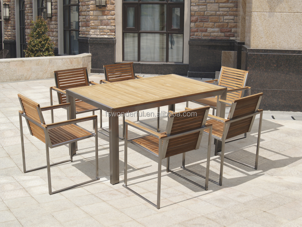 Wf t3011 150 teak stainless steel outdoor furniture buy for Steel outdoor furniture