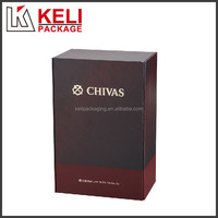 New design hot stamping cardboard wine box with two sliding inner box