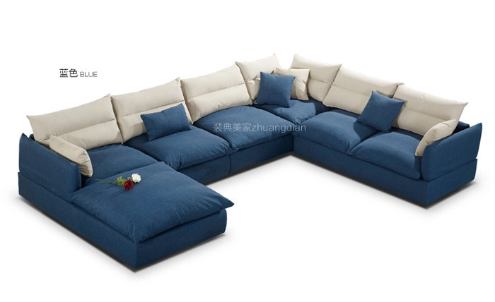 Blue Fabric Sofas Sale