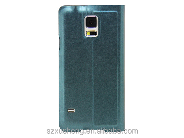 new products 2014 flip leather case for samsung galaxy s5 with s view window