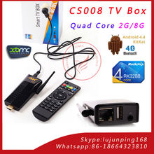 CS008 Android 4.4 TV Box Quad Core RK3288 Android TV Stick with remote control,2GB RAM 8GB ROM External 2.4G antenna Connect