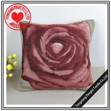 beautiful rose design jacquard tapestry cushion for christmas