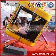 Linkyou 2015 new helicopter simulator arcade machine 360 degree full motion flight simulator