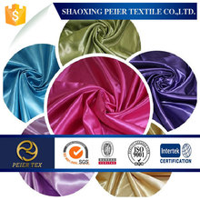 100% polyester heavy satin fabric for ladys wedding in 2015