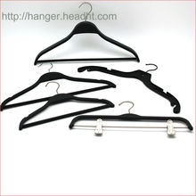 "The HH brand plastic laminited clothes hanger solid like 40cm or 42cm (15"" or 16"") plastic clothes hanger soft finishing"