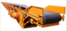 Light weight low noise inclined loading belt conveyor machine