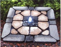 stone flat net fountain