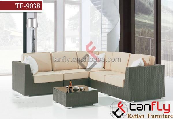 High Quality Living Room Furniture Rattan Wicker Sofa Set