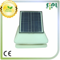 white color solar powered attic roof fan with adjustable PV panel