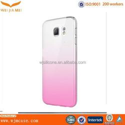Wholesale Cheap Factory Customized Gradient Color Raindrops Effect Transparent Plastic Case for Samsung s6