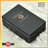 wholesale high quality rectangle Classical Design Wooden Business Card Box