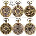 de la cadena baratos japón movt de cuarzo de estilo occidental antiguo reloj de bolsillo