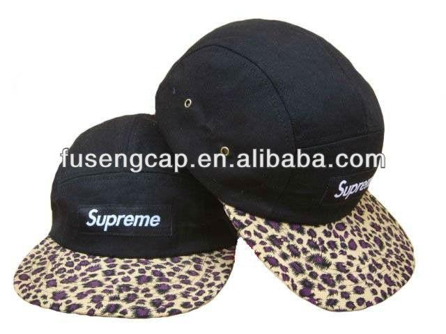 supremo sombrero de 5 paneles gorra de béisbol en venta al por mayor de china