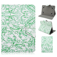 For iPad 2 3 4 5 6 Mini Air Fashion Colored Drawing Pattern PU Leather Flip Wallet Case