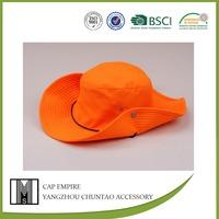BSCI Audit original orange plain adults special cotton fabric bucket hat pattern