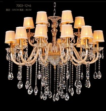 NEW LED modern design chandelier light with shade low price 12+6 heads