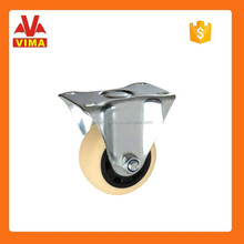 75mm hand trolley PP wheel with double ball bearing fixed castor