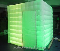 2014 Cyber Monday portable photo booth machine with led light best sale inflatable cube tent inflatable photo booth