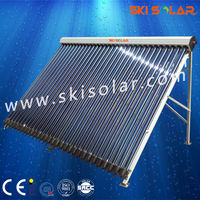 2015 factory direct new high capacity heat pipe solar heating collector with vacuum tube and manifold