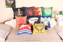 customizable pillow linen pillow cushion A Song of Ice and Fire/ Game of Thrones Family badges