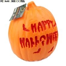 make your own logo design Halloween plastic LED pumpkin artificial pumpkin