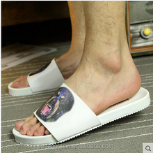 Cheap Wholesale Indoor/Outdoor Terry Towel Slippers with rubber sole/anti slip summer bedroom slippers