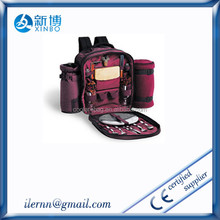 Promotional purple thicken durable portable picnic backpack