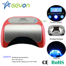 China manufacturer high quality best price hot sale nail art 18w uv nail lamp