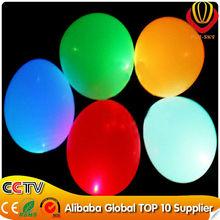 Led globo de látex azul de luz led globo en la feria de cantón led globo del partido ce& rohs