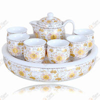 wholesale gift items customized gift silver plated coffee set tea set chinese tea newest porcelain tea set