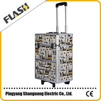 Moveable Trolley Cosmetic Case for Hairdressing Atist with Wheels