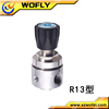 Universal high pressure flow oxygen regulator for medical use