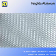Embossed aluminum sheet with rhombus pattern