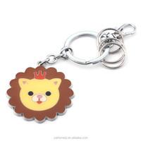 HOMEQI cartoon character keychains animal lion model metal keychain HQKC290404-2