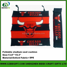 Sublimation Printed Polyester Foldable Stadium Seat cushion
