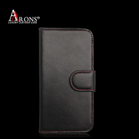 Genuine leather folio mobile phone cell phone holder for HTC ONE M8