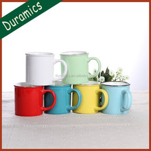 300ml 10oz Ceramic mug tea cup with enamel finish Fty directly sale
