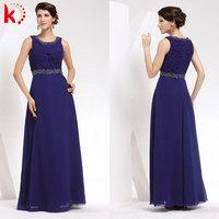 Simple decent sleeveless ruffle bride mother evening dress wholesale maxi dress thailand