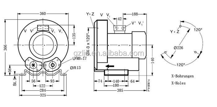 Miniature Regenerative Blowers : Mini sewage tank treatment regenerative blower kw buy