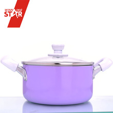 Winning star non-stick induction bottom deep cooking stew pot sauce pan set with lid for wholesale