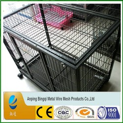 Foldable Dog Crate, 2 Doors Easy to Carry