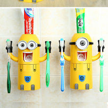 Plastic victor minions funny toothbrush Holder dispenser