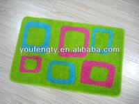 washable rubber backed bathroom rug