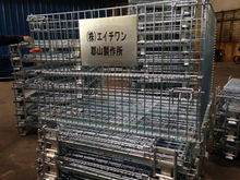 steel folding Storage Cage is galvanized surface/mesh container/butterfly cage be used industr