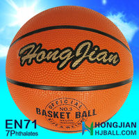 jiangyin cheap NO.3 rubber basketball strong