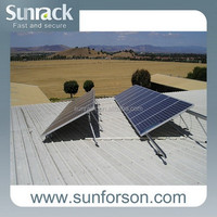 Cheap solar mounting system for home use