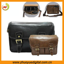 Vintage photo gifts and gear for photographers digital leather camera pouch/satchel bag