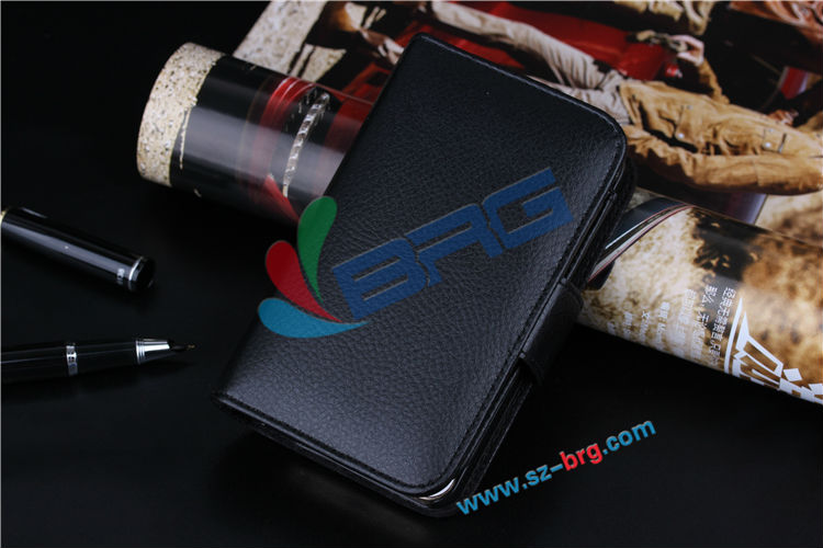 BRG Fabrication vente chaude portefeuille en cuir cas pour l'iphone 5, Pour l'iphone 5 caisse de pochette
