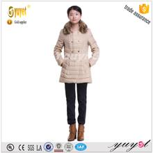 younger beige white medium down jacket