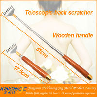 wood handle telescoping back scratcher with massager ball
